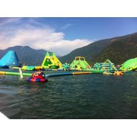 Summer Inflatable Water Park / Colorful Inflatable Water Toys For Amusement Park Manufactures