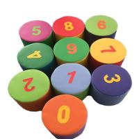 Kids Indoor Soft Play Toys / Foam Figure Numbering Block  Environmental Protection Manufactures