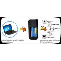 Black Universal Battery Recharger , Portable Charger Power Bank Manufactures