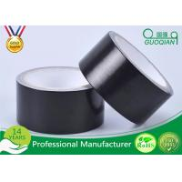 Black Color PE Coated Economy Cloth Duct Tape 60 Yds Length Waterproof Duct Tape Manufactures