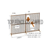 "Quality Construction Security Temp Fence Panels 6ft x 10ft 1830*3050mm Spacing 4""x12' for sale"