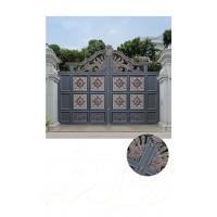 Quality Villa Aluminum Electric Garden Door Opening Type With Remote Control Motor Shaft for sale