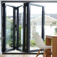 Folding Bifold Commercial Aluminium Doors Tempered Glass Inward / Outward Opening Manufactures