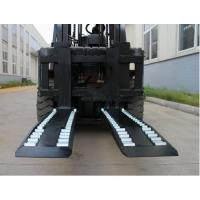 Wheel Forks Forklift Truck Attachments For Lifting , Carbon Steel Pallet Fork Extensions Manufactures