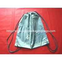 Quality Fashionable Plastic Drawstring Backpack Bags CPE LDPE Shoulder For Clothes for sale