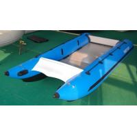 Quality Adult Blue 30HP High Speed Inflatable Boats With Aluminum Floor for sale