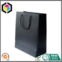 Quality Matte Black Special Paper Packaging Bag for Gift; Cotton Handle Gift Paper Bag for sale