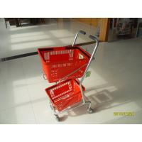 Small Shop Use Shopping Basket Trolley With 4 Swivel 3 Inch PVC Casters Manufactures