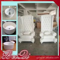 Pedicure spa with high back throne chair comfortable luxury pedicure spa massage chair for nail Manufactures