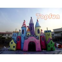 Giant Fantastic Cinderella Castle , Customized Colourful PVC Jumping Castle Manufactures