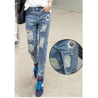 Lady denim jean fashion skinny thickness thread jeans Manufactures