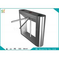 Fingerprint Reading Card Waist Height Turnstile Recognition  Wharf Access Gate Manufactures