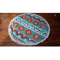 Buy cheap Microfiber custom print round beach towels with tassel microfiber round beach from wholesalers