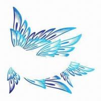 Face/Eye's Tattoo Stickers, Butterfly Design, Safe and Non-toxic, Customized Designs are Accepted Manufactures