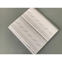 200*7mm Middle Groove Decorative Plastic Ceiling Panels With Two Silver Line Manufactures