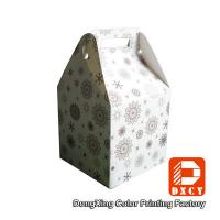 Quality Beautiful Small Food Grade Cardboard Boxes For Food Packaging With Handles for sale