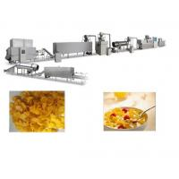Crispy Corn Flakes Production Line , SS Material Breakfast Cereals Making Machine Manufactures
