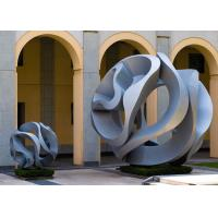 Buy cheap Modern Art Outdoor Stainless Steel Garden Hollow Ball Sculptures from wholesalers
