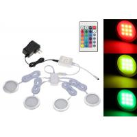 China Dimmable Remote Control Illuminator Led Lights Slim Round Shape RGB Under Cabinet Light Kit on sale