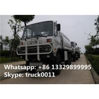 Dongfeng 190hp diesel 6*6 all wheels drive off road fuel truck for sale, oil tank truck Manufactures