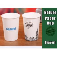 Personalized Logo Coloured Paper Cups Food Grade Simple Design For Hot Drinks Manufactures