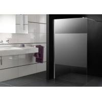 1000 X 1000 Shower Cubicles Walk In Frost Glass Big Stripe Chrome Supporting Bar Manufactures