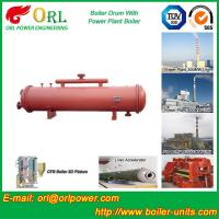 Cement industry steam boiler mud drum TUV Manufactures