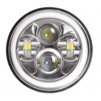 7 Inch LED Headlights Lights Bright White / Amber Turn Signal With Halo Ring Manufactures