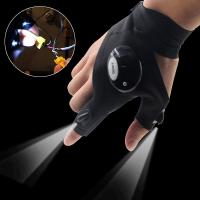 AU LED Light Night Fishing Gloves Outdoor Rescue Emergency Repairing Work Gloves Manufactures