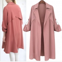 Buy cheap Pink Over Size 105cm Long Sleeve Indoor Autumn Ladies Coats from wholesalers