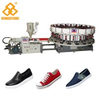 CE SGS 2-3 Workers PVC Shoes Making Machine With Upper Lasting / 30-35kw/H Manufactures