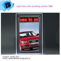 Led light box with scrolling sreen for advetising use Manufactures