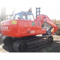 Used EX120-5 Hitachi 12 Tonne Excavator Japan No Oil Leak With 6 Cylinders Manufactures