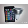 Colour Changing Led Lights 3W GU10 Led Remote Control Lights ATF-RGB3WGU10 Manufactures