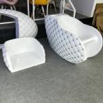 Fiber Glass Shampoo Chair Hot Sale Children Hair Washing Chair Used Beauty Salon Equipment