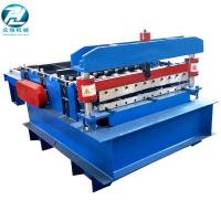 Blue Automatic Cutting Machine With Leveling Rollers And Hydraulic Cutting Devices Manufactures