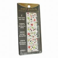 Nail Stickers, Safe and Non-toxic, Shining Effect Manufactures