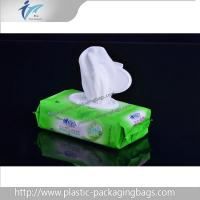 Eco Friendly PET / NY / PE Wet Wipe Packaging Bag Green / Blue Manufactures
