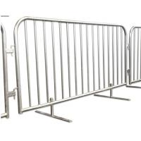 Steel Metal Fence Accessories Isolation Temporary Barrier For Ticket Line Manufactures