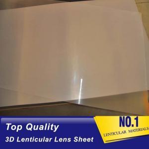 UV machine Print 3d Lens 100 LPI Resin PET Lens Plastic Flip 3D Lenticular Sheet 0.35mm 0.6mm lenticular films plastic Manufactures