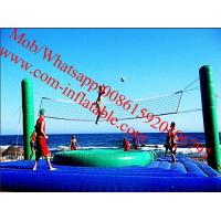 outdoor inflatable sports games inflatable beach volleyball court with_trampoline Manufactures