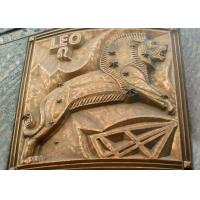 Large Size Bronze Relief Wall Art , Modern Relief Sculpture European Style Manufactures