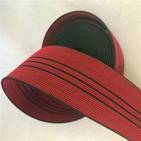 50mm High Tenacity Outdoor Furniture Webbing Red With 3 Black Lines Manufactures