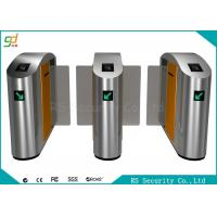 Security Flexible Biometric Speed Turnstile Flap Barrier Gate With Relay Signal Manufactures