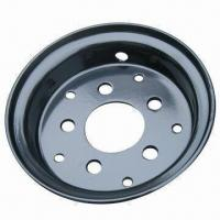 5.00S-12 Forklift Rims with 6mm Thickness, with Tire Measures 7.00-12 Manufactures