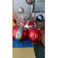 Customized PVC Mirror Ball Inflatable Giant Red Mirror Ball With 0.3mm Mirror Cloth Material Manufactures