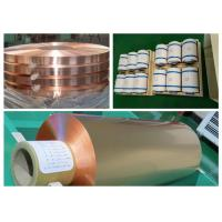 Color Uniformity Copper Flashing Rolls , ISO RA Annealed Soft Copper Foil Manufactures