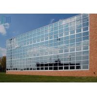 Reflective Glass Aluminium Curtain Wall For Commercial Building ISO 9001 Certificate Manufactures