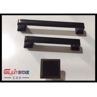 128mm American Stylish Plating Kitchen Cabinet Handles 96mm Black Arched Dresser Pulls Square Knobs Manufactures