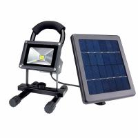 10W Waterproof Outdoor Ip65 Portable Rechargeable Solar Led Flood Light Manufactures